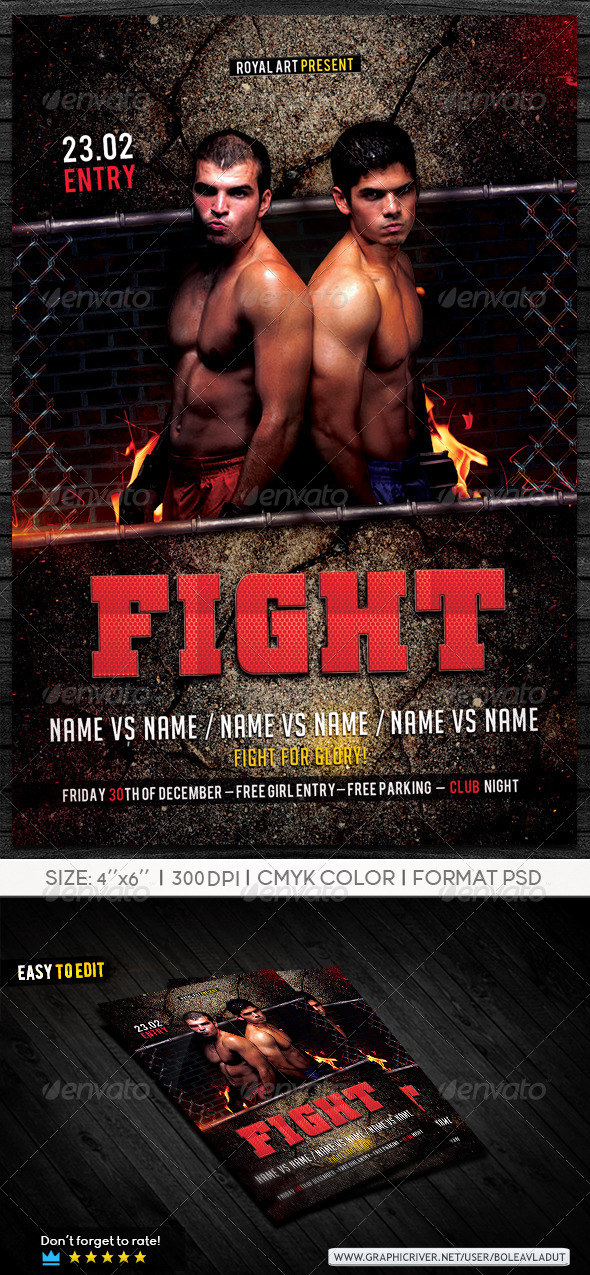 Fight Night - Events Flyers