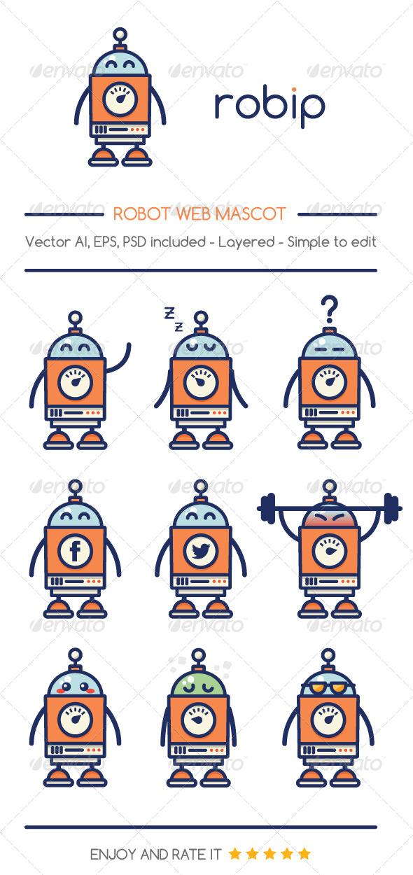 Robip - Characters Vectors