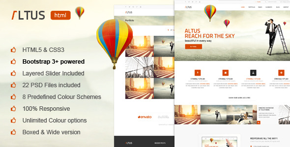 Altus - Multi-Purpose HTML Template