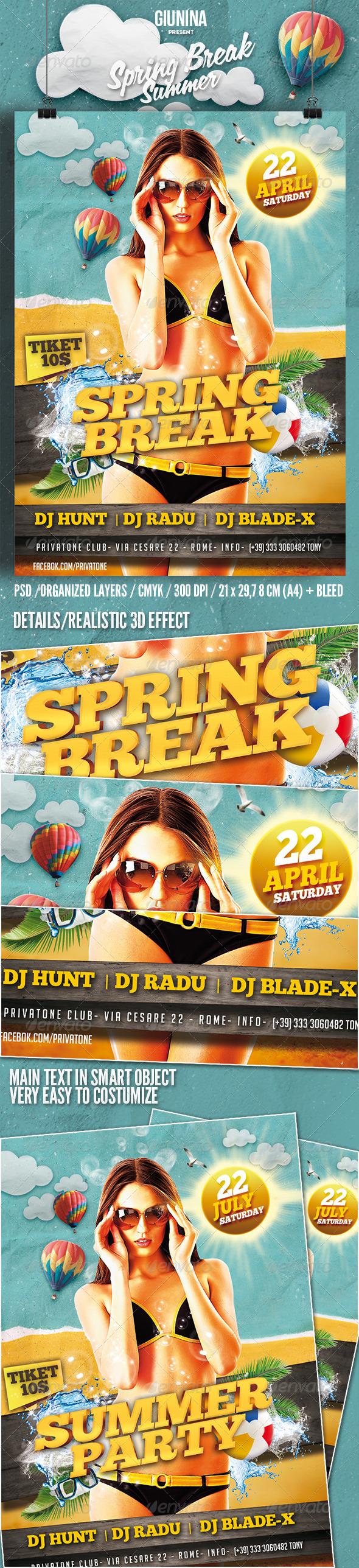 Spring Break / Summer Flyer poster