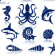 Marine Life Icon Set - GraphicRiver Item for Sale