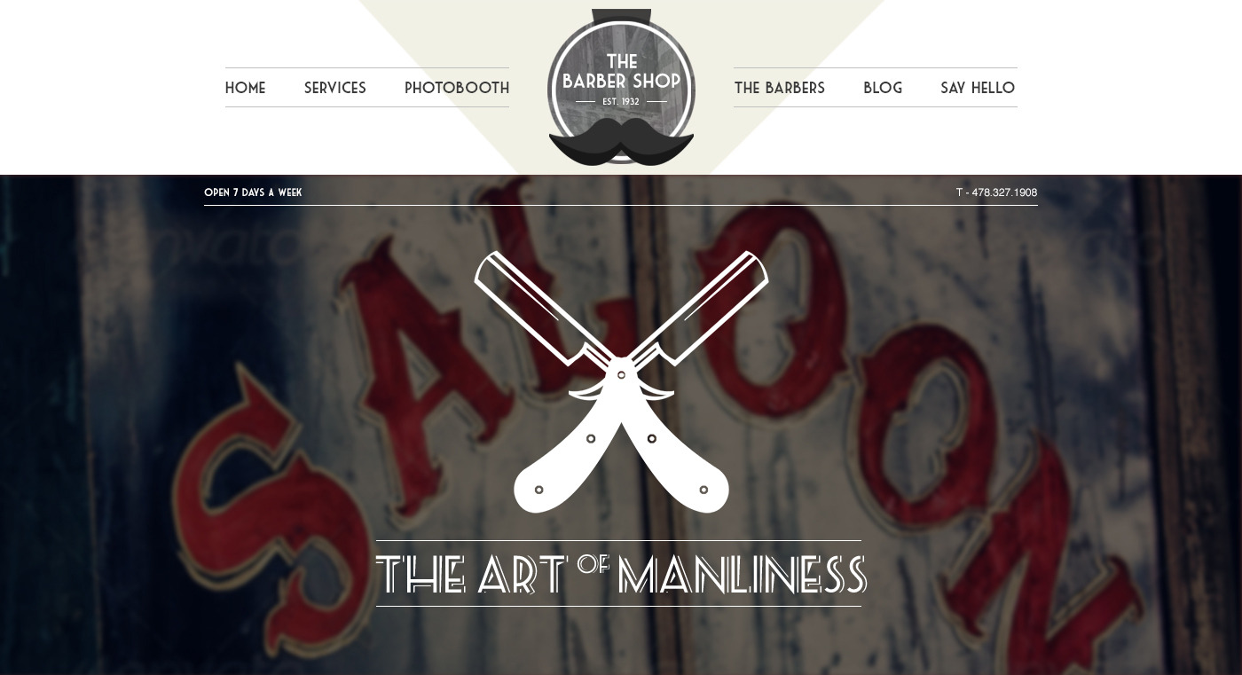 The Barbershop - Responsive Wordpress Portfolio