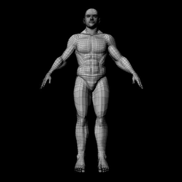 Medium Poly Man - 3DOcean Item for Sale