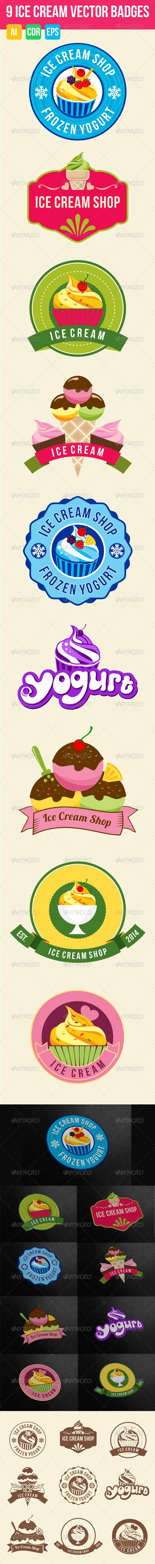 9 Ice Cream Badges