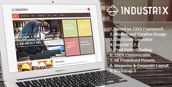 ThemeForest Industrix Joomla Responsive Business Template 7414997