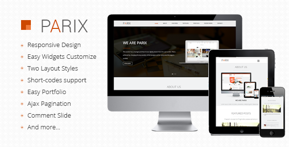 ThemeForest Parix One Page Blogger Template 7415567
