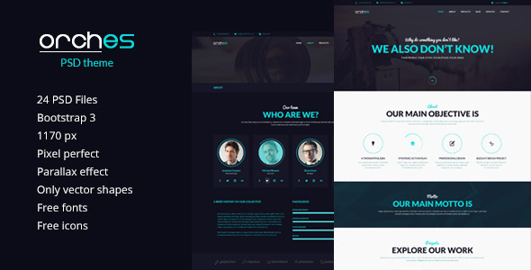 Orches PSD Theme - Corporate PSD Templates