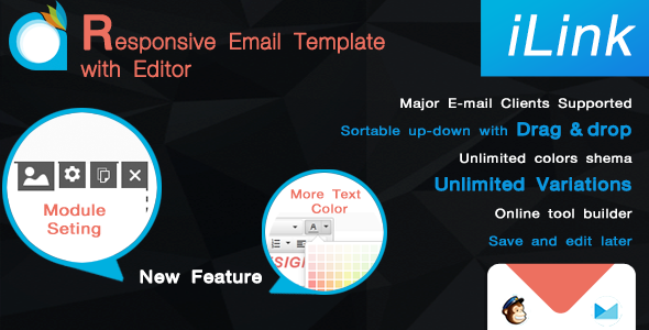 iLink-Responsive Email Template with Editor - Newsletters Email Templates