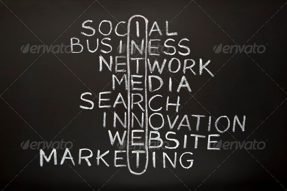 Internet Concept on Blackboard - Stock Photo - Images