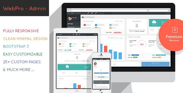 WebPro Admin Dashboard Template