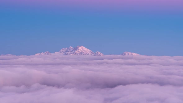 VideoHive Foggy Sunset in The Mountains with Pink Alpine Glow and Mist 19148828