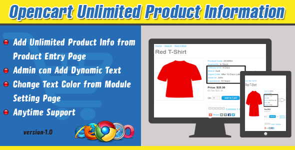 CodeCanyon Opencart Unlimited Product Information 7416930