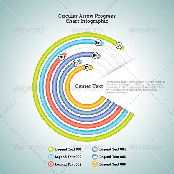 GraphicRiver Circular Arrow Progress Chart Infographic 7417314