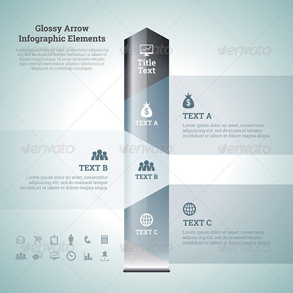 GraphicRiver Glossy Arrow Infographic Elements 7417326