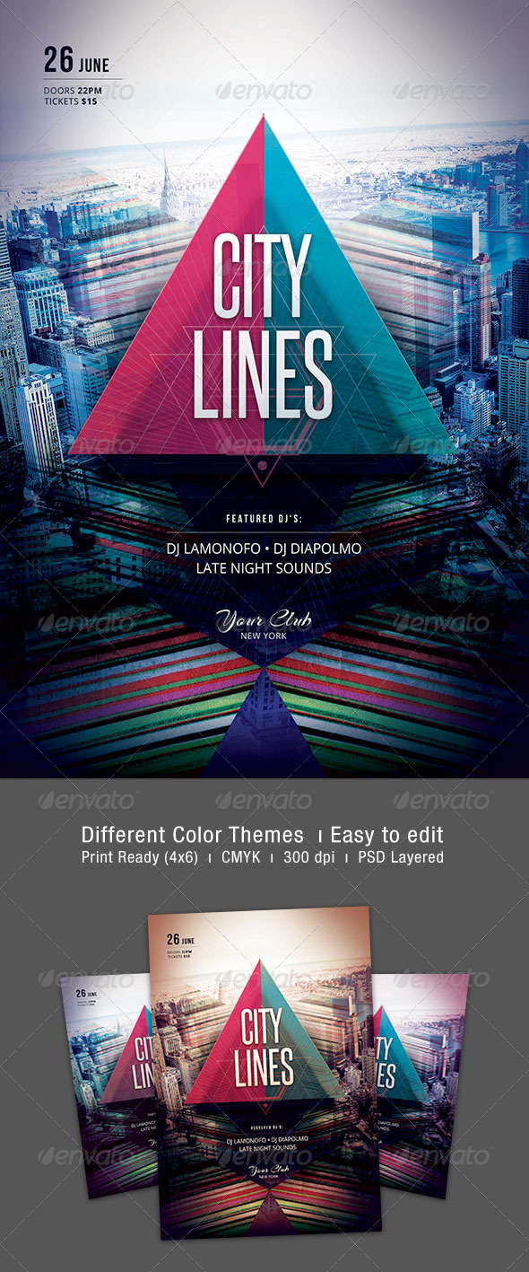 City Lines Flyer - Clubs & Parties Events