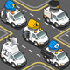 Isometric Workers Trucks  - GraphicRiver Item for Sale