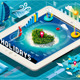 Isometric Holidays Infographic on Mobile Tablet - GraphicRiver Item for Sale