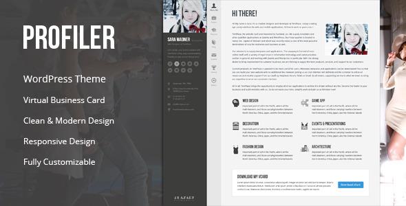 Profiler - vCard Resume WordPress Theme