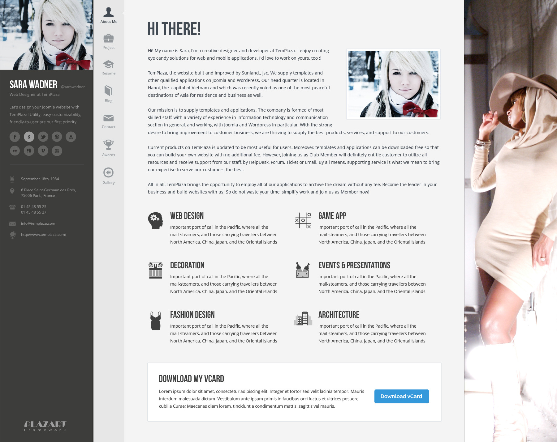 Wordpress Resume 1 Profiler Vcard Resume Wordpress Theme