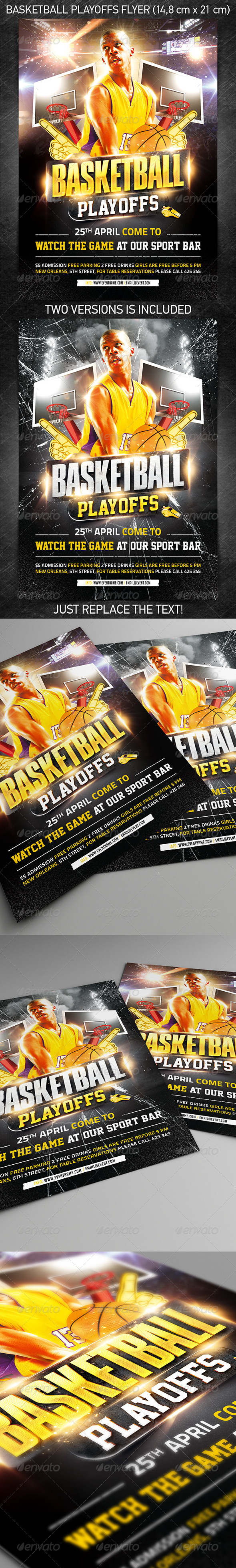 Basketball Playoffs Flyer - Sports Events