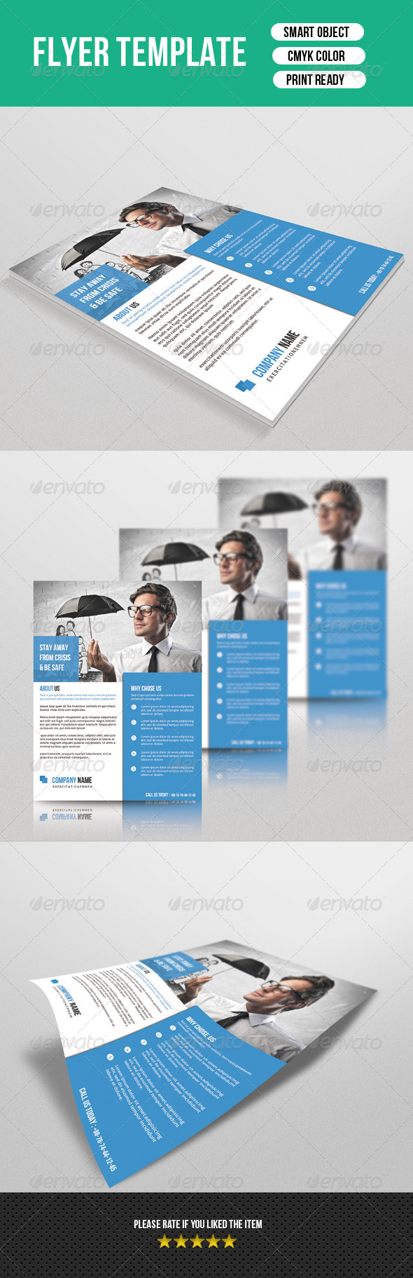 GraphicRiver Corporate Flyer Template 7420266