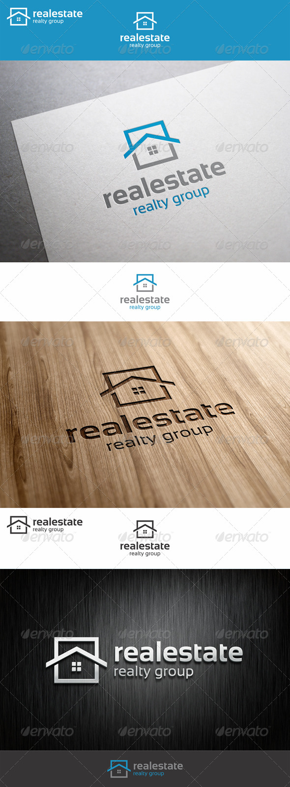 Real Estate Logo - Realty Group - Buildings Logo Templates
