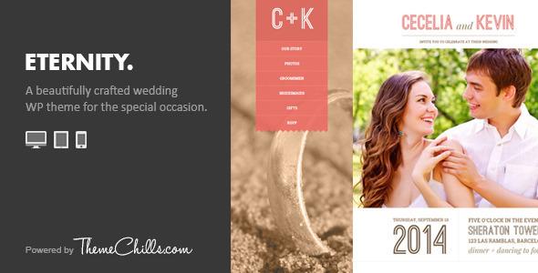 ThemeForest Eternity Responsive Wedding Wordpress Theme 7326697