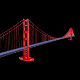 Suspension Bridge (Golden Gate Bridge) 3D Model - 3DOcean Item for Sale