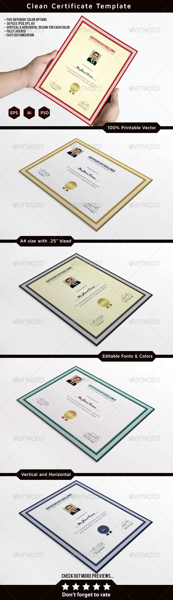 Clean Certificate Template - Certificates Stationery