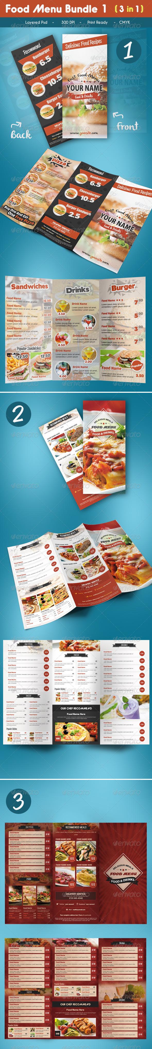 Trifold Food Menu Bundle_1