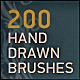 200 Hand Drawn Elements Brushes - GraphicRiver Item for Sale
