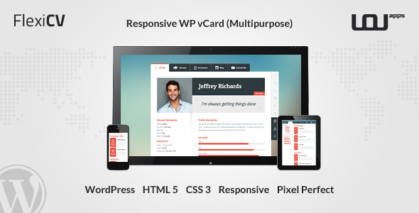 FlexiCV - Responsive WP vCard (Multipurpose)