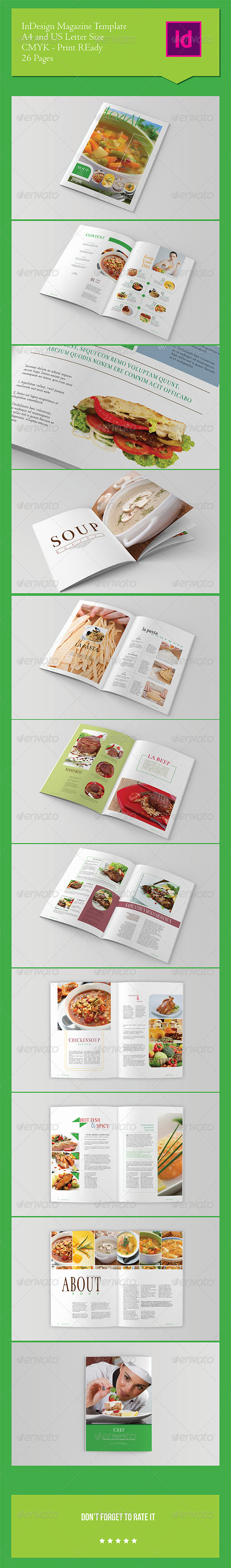 GraphicRiver Food Magazine Template 7421159