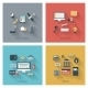 Set of Modern Concepts in Flat Design - GraphicRiver Item for Sale