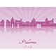 Palermo Skyline in Purple Radiant Orchid - GraphicRiver Item for Sale