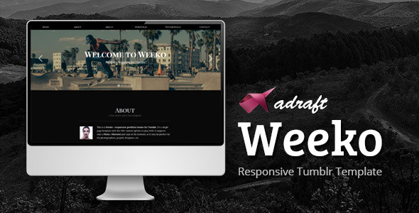ThemeForest Weeko Responsive Portfolio Tumblr Theme 7422349