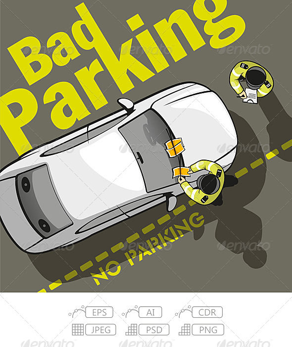 Bad Parking - People Characters