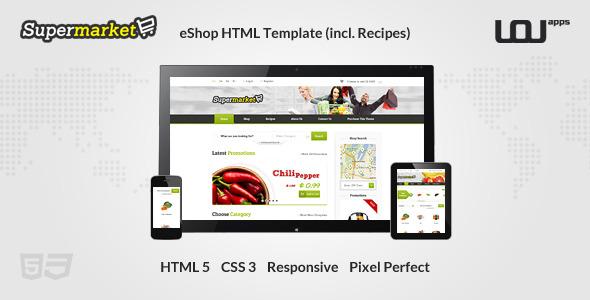 SUPERMARKET - eShop HTML Template (incl. Recipes)