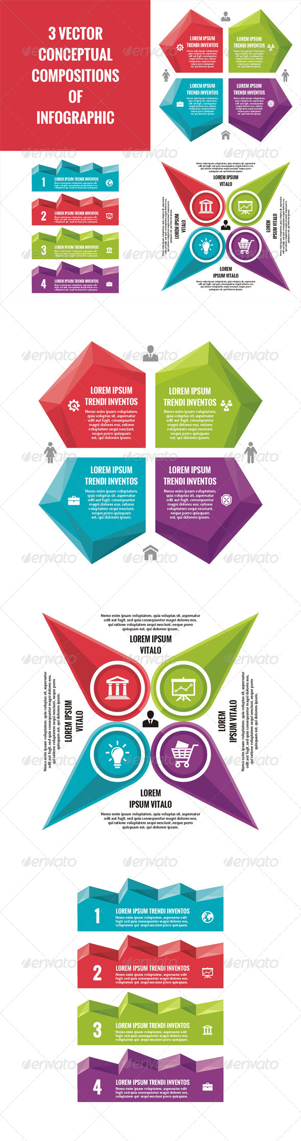 GraphicRiver 3 Infographic Concept for Presentation 7423022
