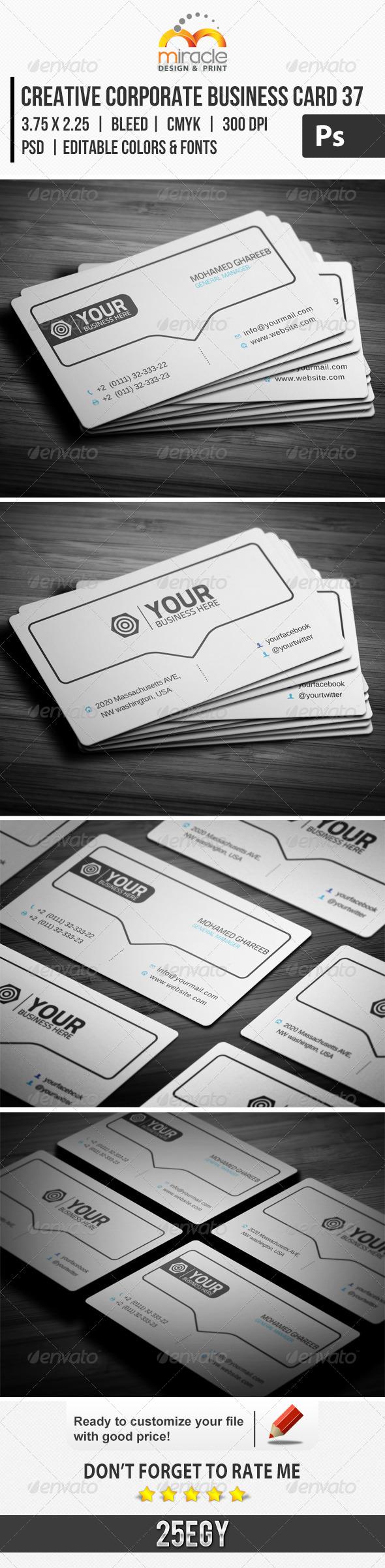 Creative Corporate Business Card 37