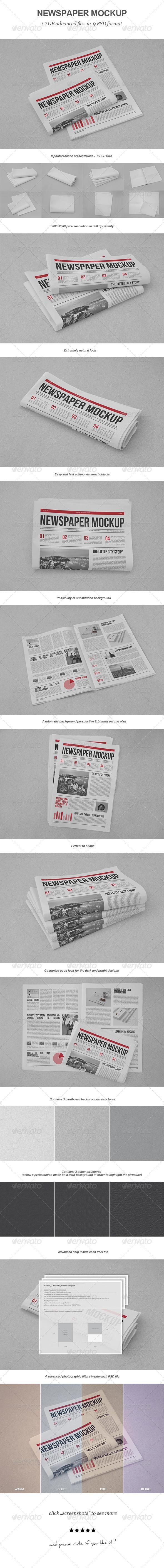 GraphicRiver Newspaper Mock-up 7424162