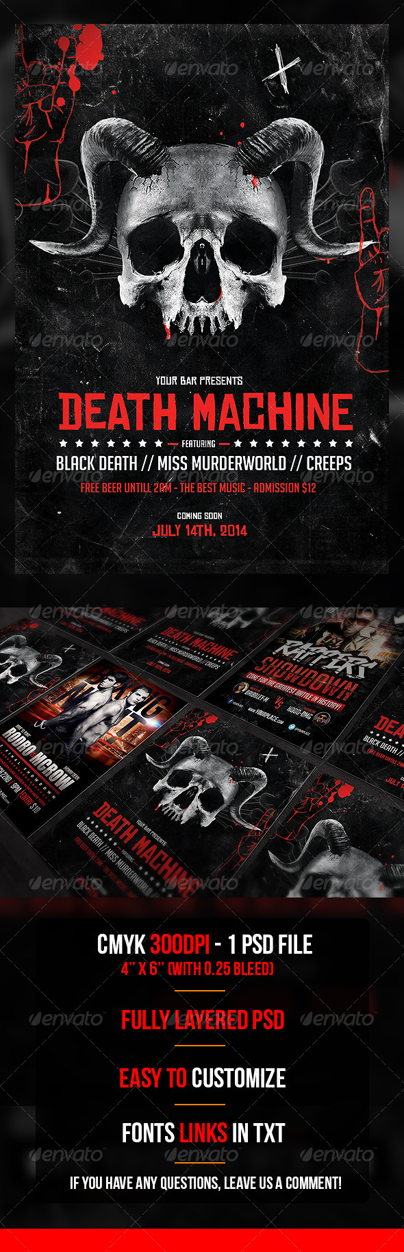 Death Machine Flyer Template - Flyers Print Templates