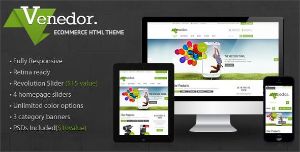 ThemeForest Venedor Premium Bootstrap Ecommerce HTML5 Template 7426521