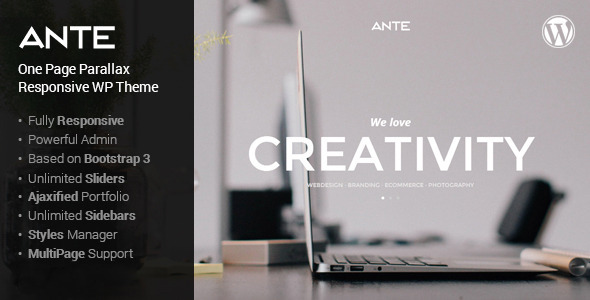 Ante - the ultimate wordpress parallax theme - Corporate WordPress