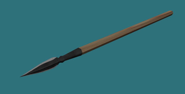 Low Poly Spear - 3DOcean Item for Sale