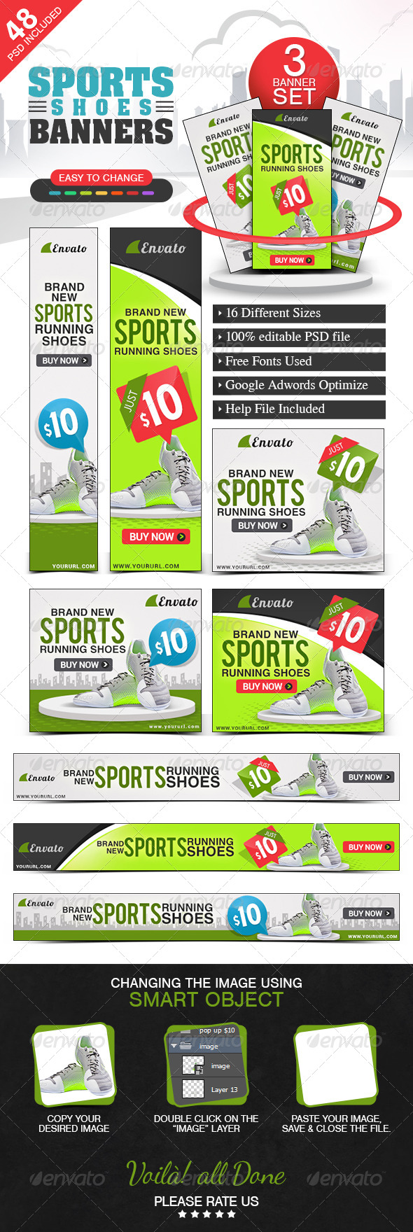 GraphicRiver Banners for Online shop 3 Different Designs 7428314