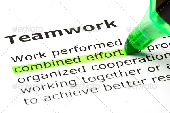 Combined Effort Highlighted under Teamwork - Stock Photo - Images