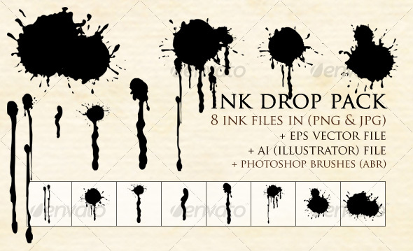 GraphicRiver Ink Drop Pack 31544