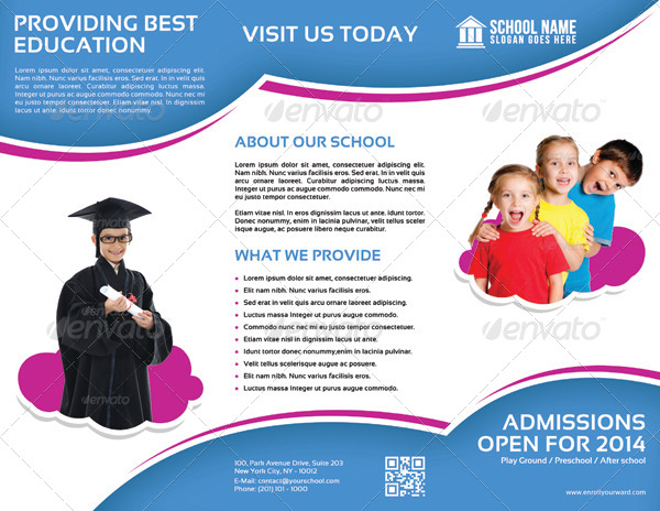 School promotion tri fold brochure vol 1 by letsjustdesign for Tri fold school brochure template