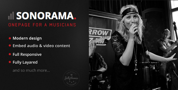 ThemeForest Sonorama Onepage Music Template 7432240